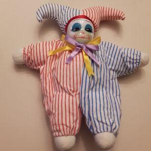 3/$15 Retro glass Bean Bag Court Jester clown